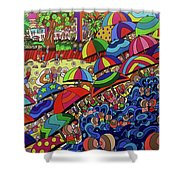 Swimming Day Shower Curtain