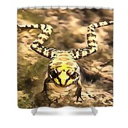 Swimming Frog Shower Curtain