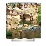 Swimming Hole At Slide Rock Shower Curtain