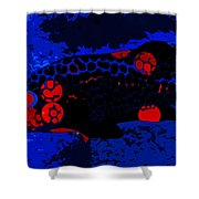 Swimming In Blue Coral Shower Curtain
