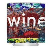 Swimming In Wine Shower Curtain