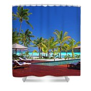 Swimming Pool At Beach Shower Curtain