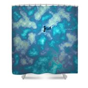Swimming Through The Clouds Shower Curtain