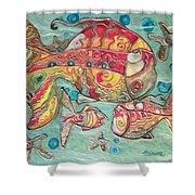 Swimming With The Stars Shower Curtain