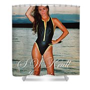 Swimsuit Girl Ad Shower Curtain