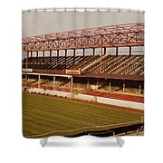 Swindon - County Ground - Main Stand 2 - 1970s Shower Curtain