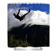 Swing At The End Of The World Shower Curtain