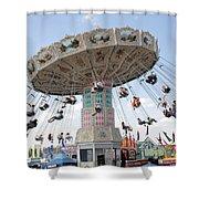 Swing Carousel At County Fair Shower Curtain