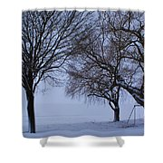 Swing In Winter Shower Curtain