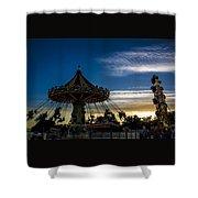 Swingin Sunset Shower Curtain
