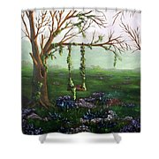 Swingin' With The Flowers Shower Curtain