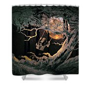 Swinging Through The Forest By Moonlight Shower Curtain