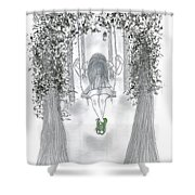 Swinging With Chucks Shower Curtain