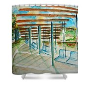 Swings At Smale Park Shower Curtain