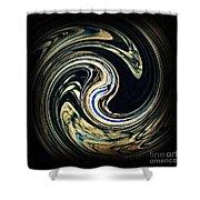 Swirl Design  Shower Curtain