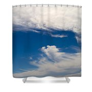 Swirl Of Clouds In A Blue Sky Shower Curtain