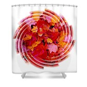 Swirling Colored Leaves Shower Curtain