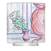 Curtain- Swirling  Shower Curtain