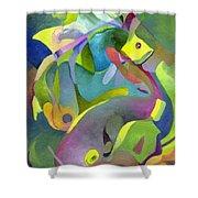 Swirling Fish Shower Curtain