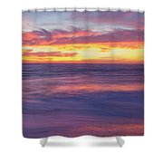 Swirling Ocean And Sky Shower Curtain