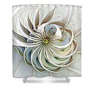 Swirling Petals Shower Curtain
