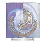 Swirling Rose Shower Curtain