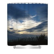 Swirling Skies Shower Curtain