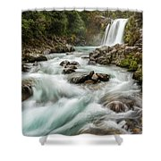 Swirling Waters - Tawhai Falls Shower Curtain