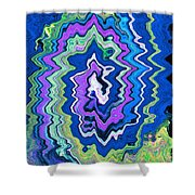 Swirling Wave Shower Curtain
