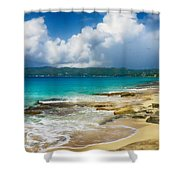 Swirling Waves Shower Curtain