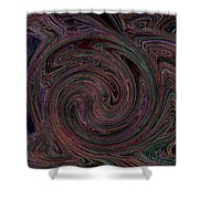 Swirlpool Neon Shower Curtain