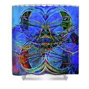 Swirls Abstract Shower Curtain