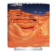 Swirls And Buttes At The Wave Shower Curtain