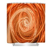 Swirls Of Orange Shower Curtain