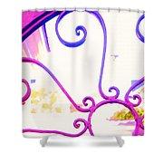 Swirls On A Gate Shower Curtain