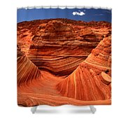Swirls Waves And Buttes Shower Curtain