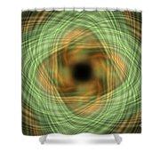 Swirly Plaid Shower Curtain