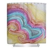 Swirly Rainbow Shower Curtain