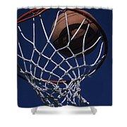 Swish.  A Basketball Shower Curtain