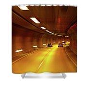 Swiss Alpine Tunnel Shower Curtain