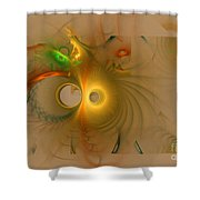Swiss Cheese Look Shower Curtain