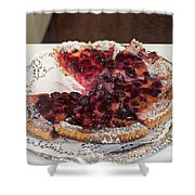 Swiss Custard Tart With Sour Cherries Shower Curtain