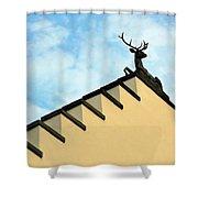 Swiss Deer On Zurich Rooftop Shower Curtain
