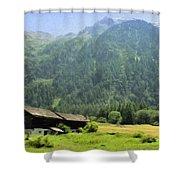 Swiss Mountain Home Shower Curtain by Jeff Kolker