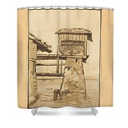 Swiss Peasant House Shower Curtain
