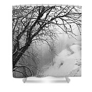 Swiss  Snow Fall Shower Curtain
