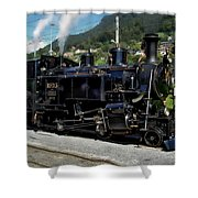 Swiss Steam Locomotive Shower Curtain