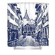 Swiss Street Shower Curtain