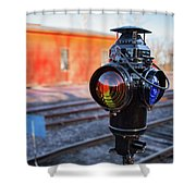 Switch Lamp Shower Curtain