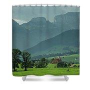 Switzerland Countryside Shower Curtain